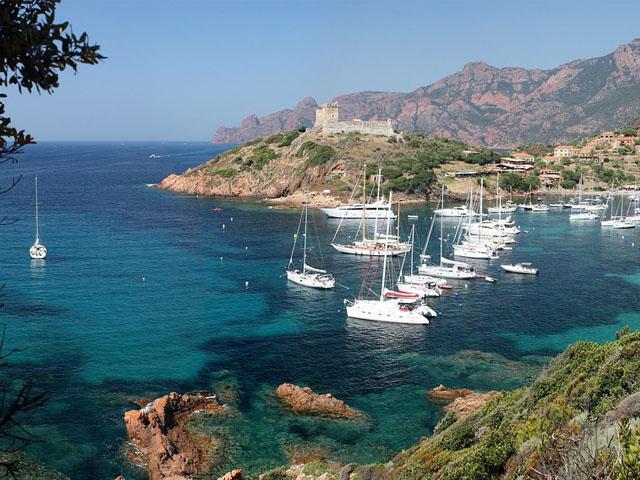 Corsica  Girolata Scandola  august